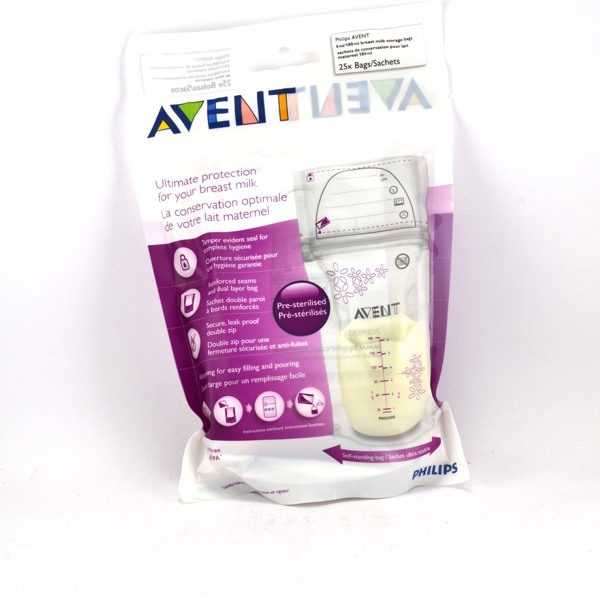 avent sachets de conservation pour le lait maternel 25x180ml. Black Bedroom Furniture Sets. Home Design Ideas
