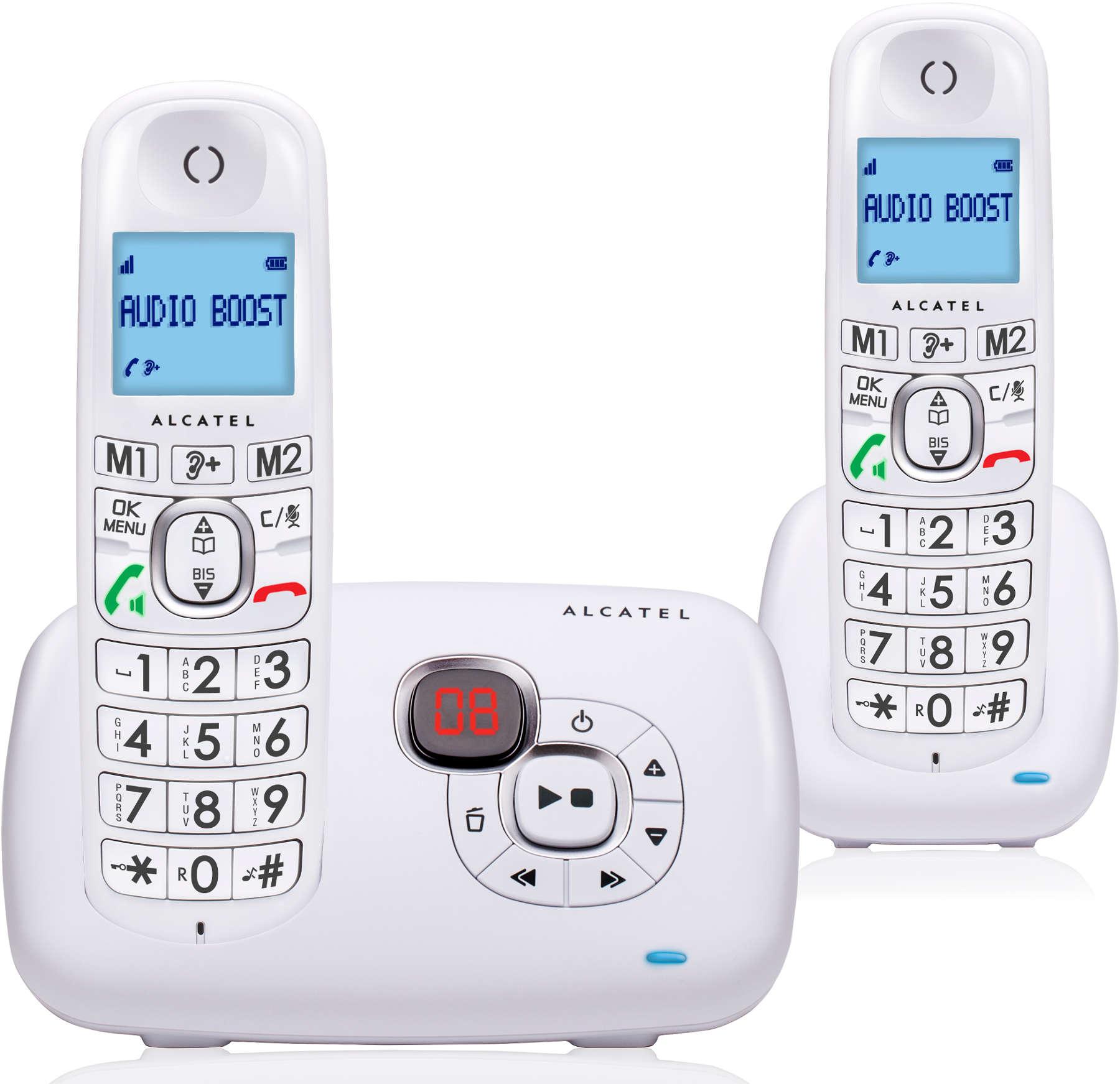 telephone sans fil alcatel xl 385 voice duo blanc. Black Bedroom Furniture Sets. Home Design Ideas